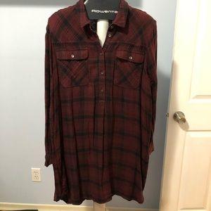 GAP Tunic/Dress Maroon & Black (Cotton) XL